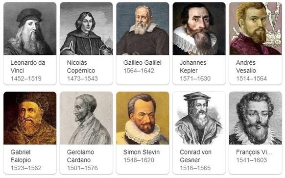 Científicos del Renacimiento