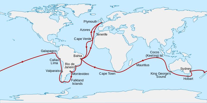 viaje de Charles Darwin