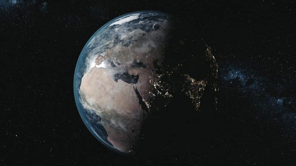 planeta tierra desde el espacio cientifiko