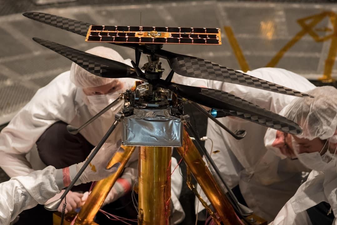 ingenuity el helicóptero marciano,