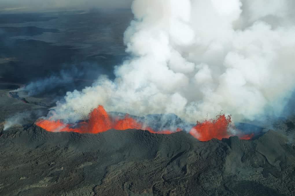 volcan en el planeta tierra