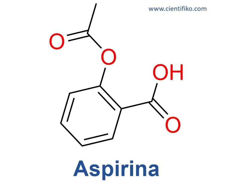 Aspirina estructura química