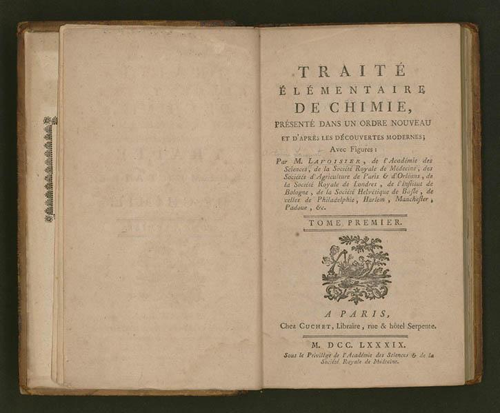 Tratado de química de Antoine Lavoisier